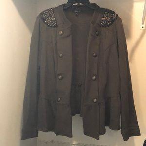 Torrid Military Peplum Jacket